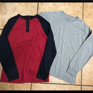 Two long sleeve size 10-12, boys T-shirt's